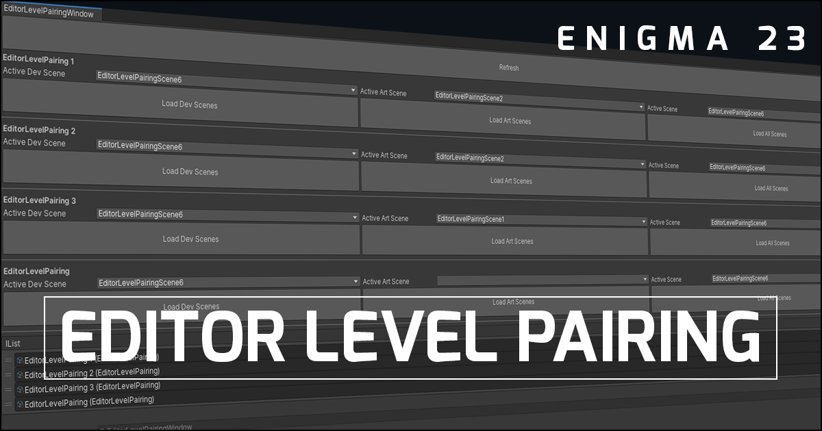 ELP - Editor Level Pairing